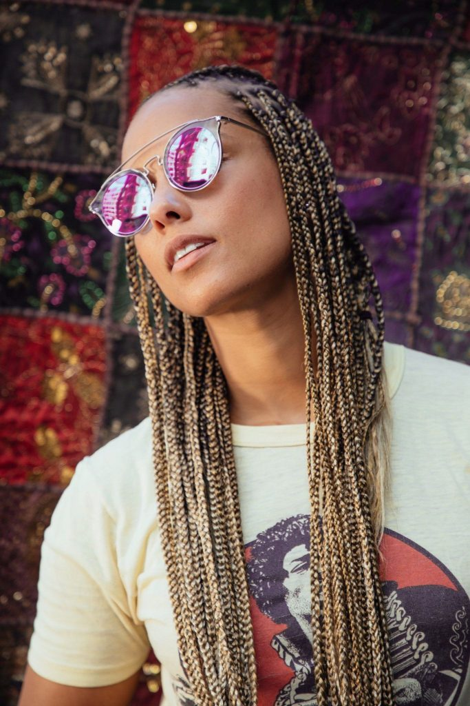 Alicia Keys Blonde Box Braids Are Simply Stunning