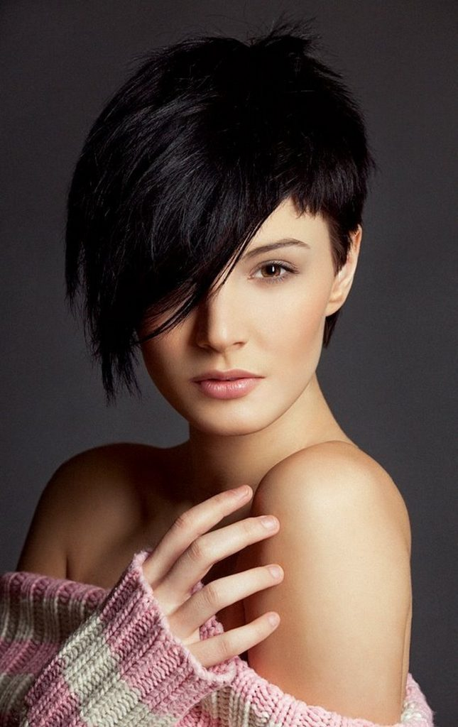 Long Pixie Cut With Side Fringe