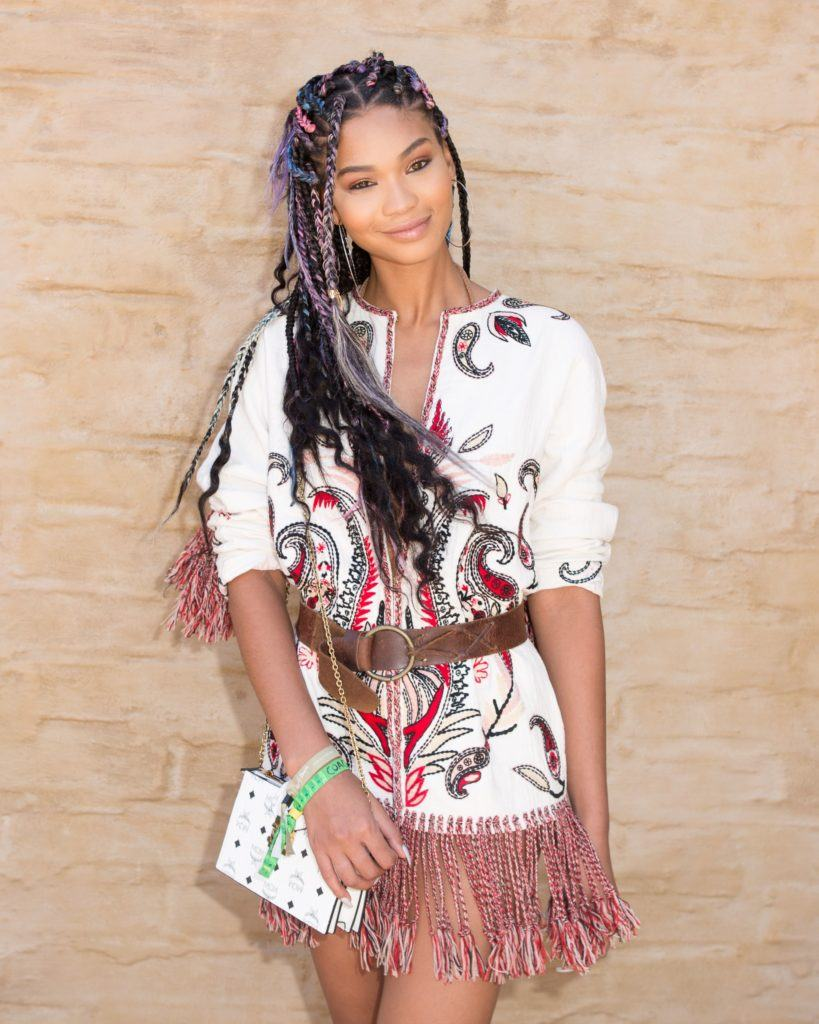 Chanel Iman Shows Off Loose Braid