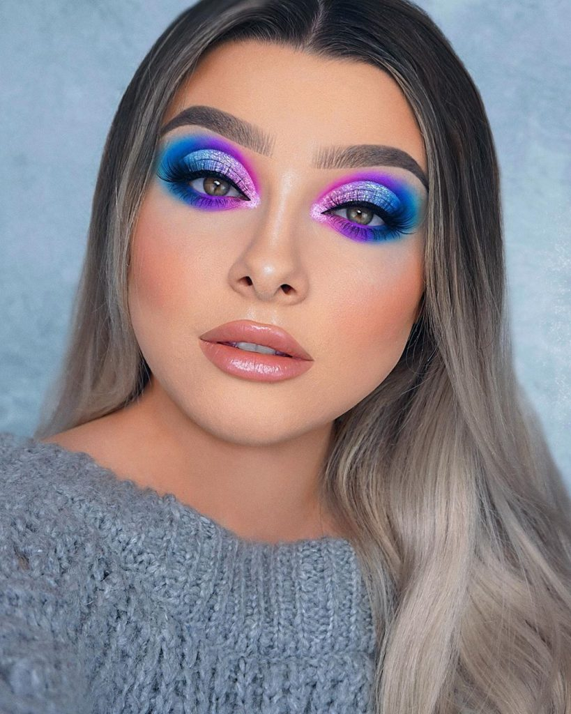 Cute Blend Of Blue And Purple