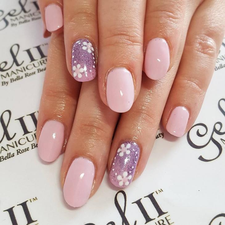 Pink Daisy Nail Art
