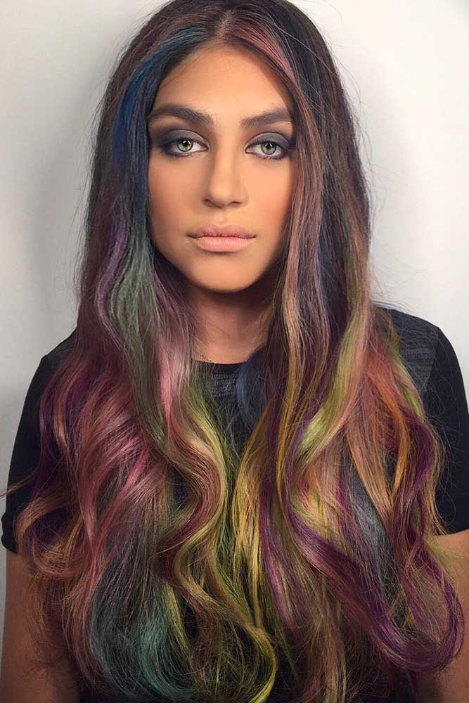 Oil Slick With Messy Highlights