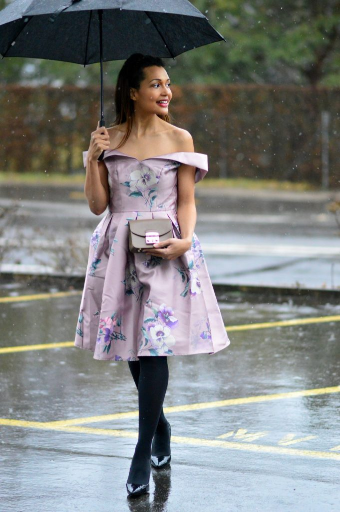Pink Floral Dress For Valentines Day
