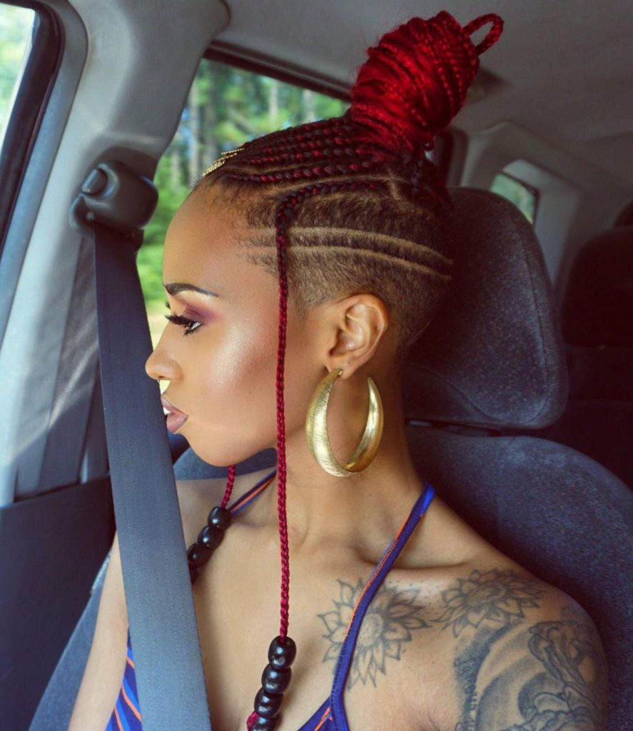 Feed In Braids With Shaved Sides