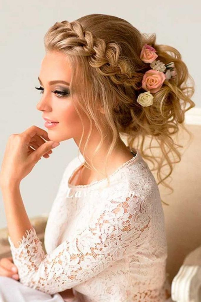 Low Ponytail With Fishtail Braid