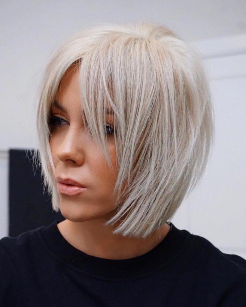 Layered Haircut With Curtain Bang