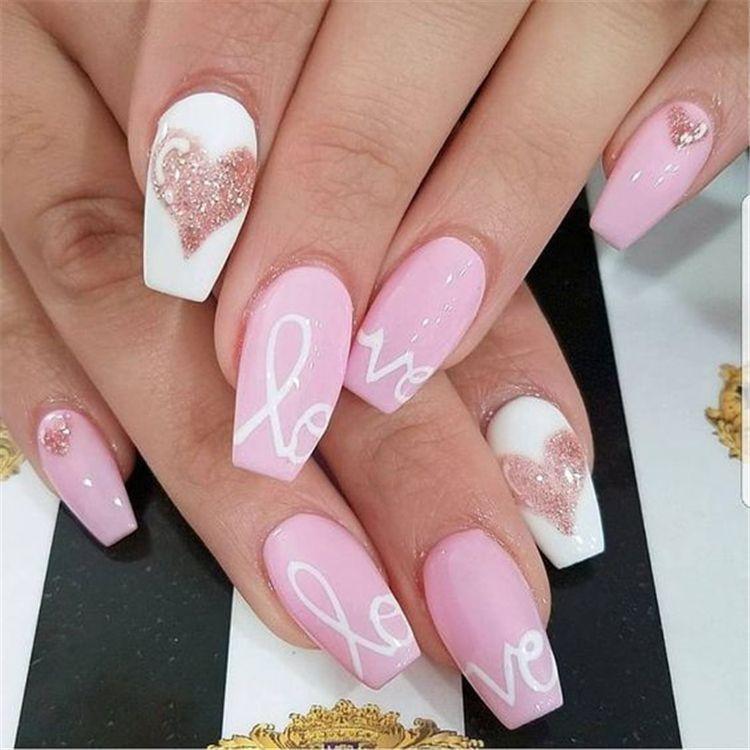 XO Design Nail For Valentine Day