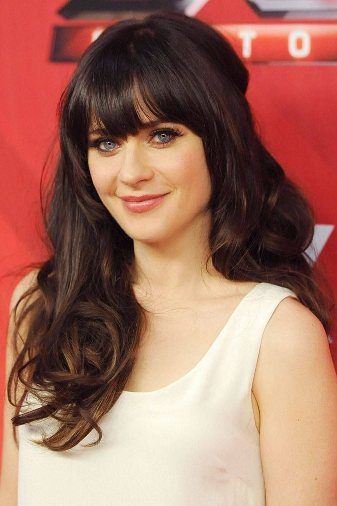 Zooey Deschanel Straight Bangs Are Cute