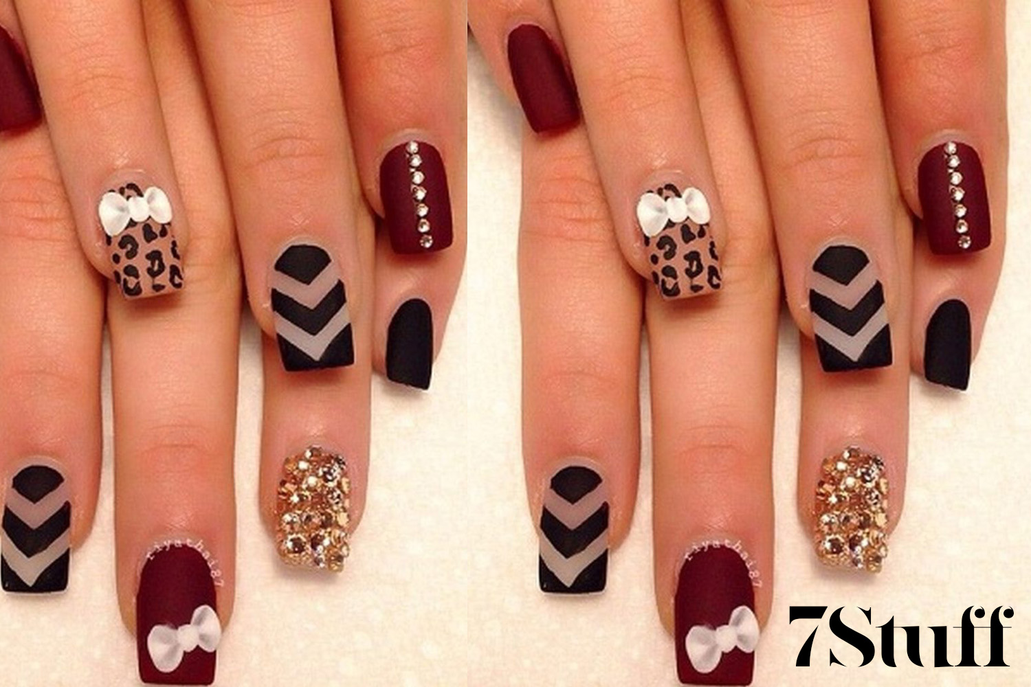 bow nail art ideas