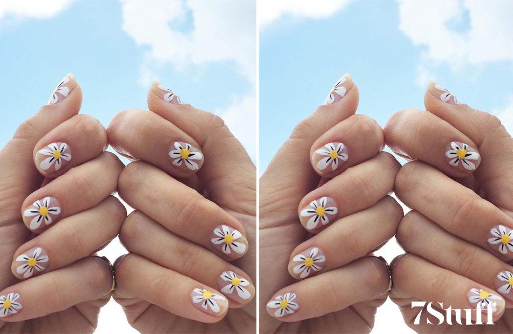 daisy nail art ideas