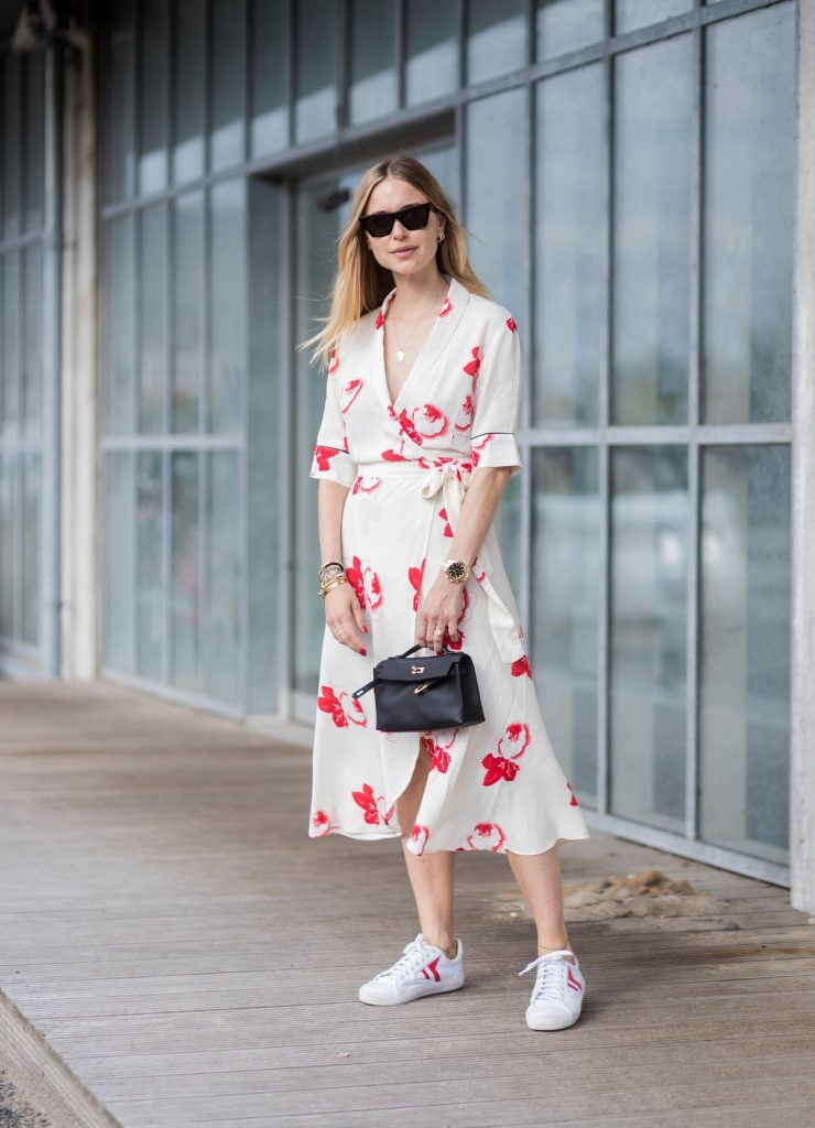 A Dress With White Sneakers Can't Go Wrong
