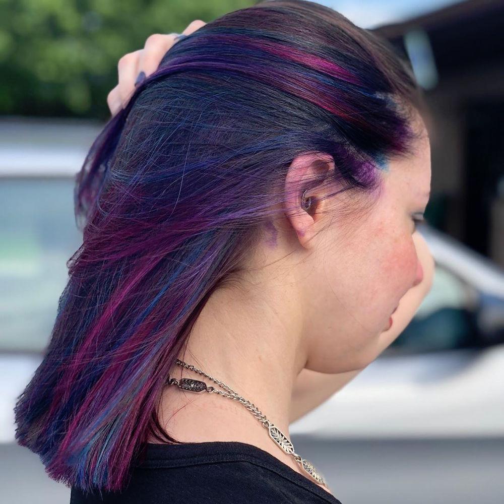 Cool Tone Oil Slick Hair