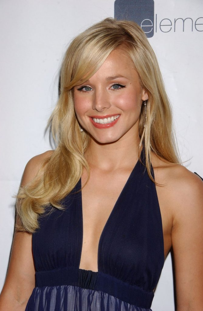 Kristen Bell Captivating Side Swept Bangs