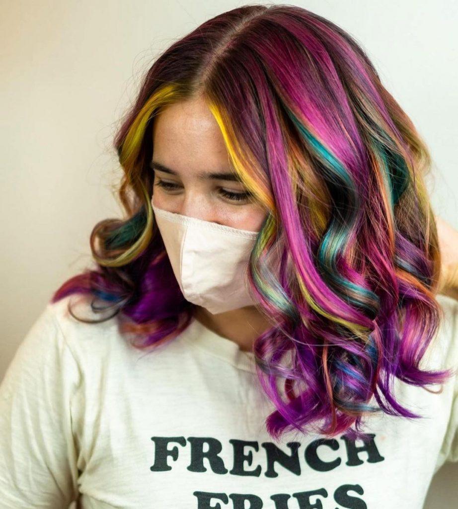 Vibrant Oil Slick Hair