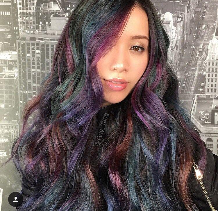 Purple Oil Slick Hair