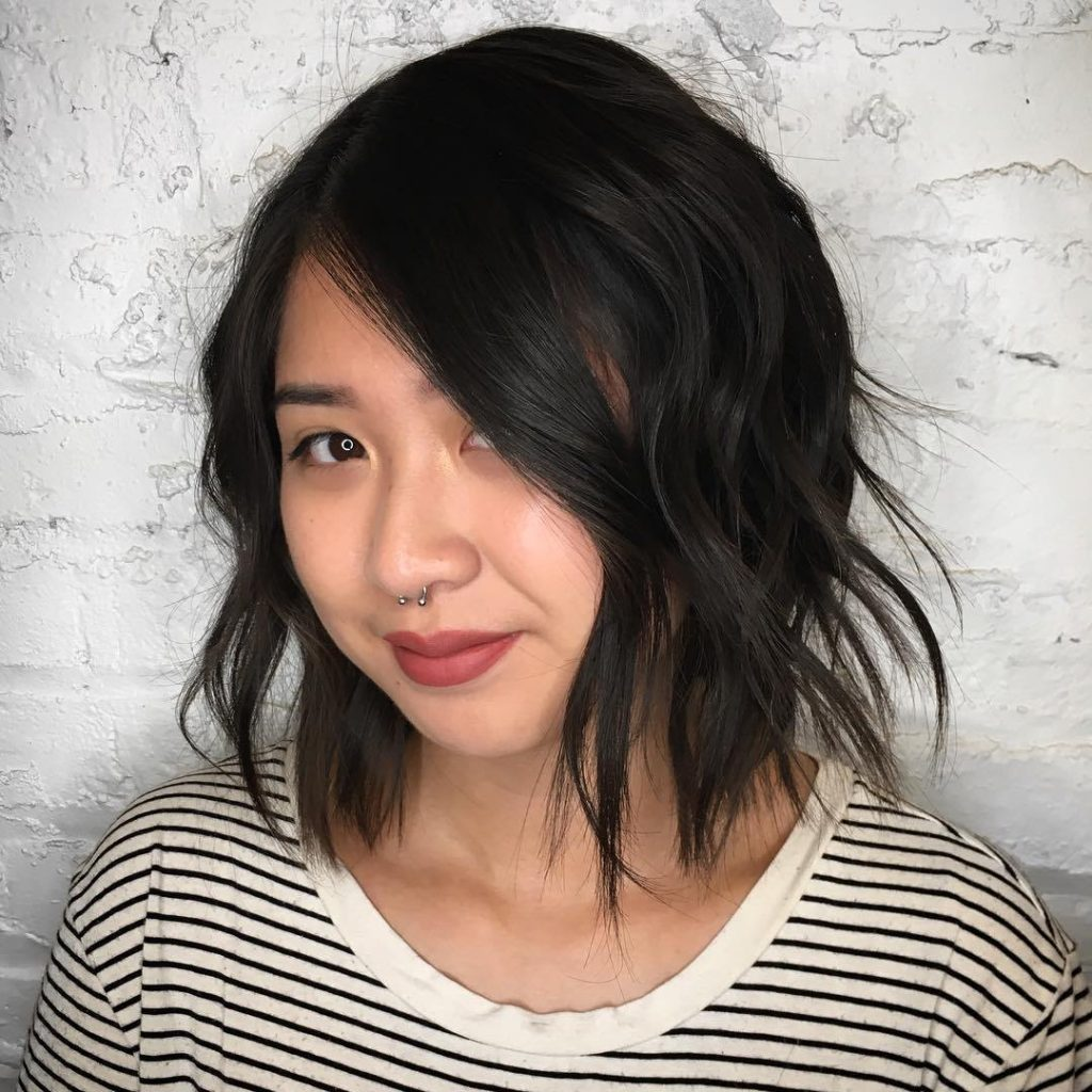 Shoulder Length Androgynous Haircut
