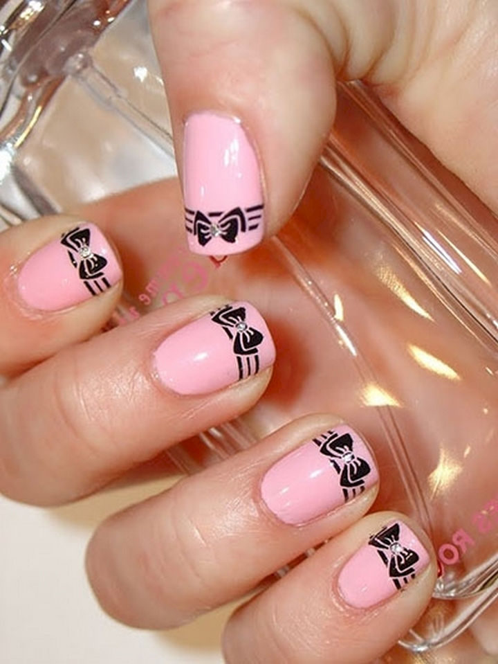 Tip Bow Nail Art