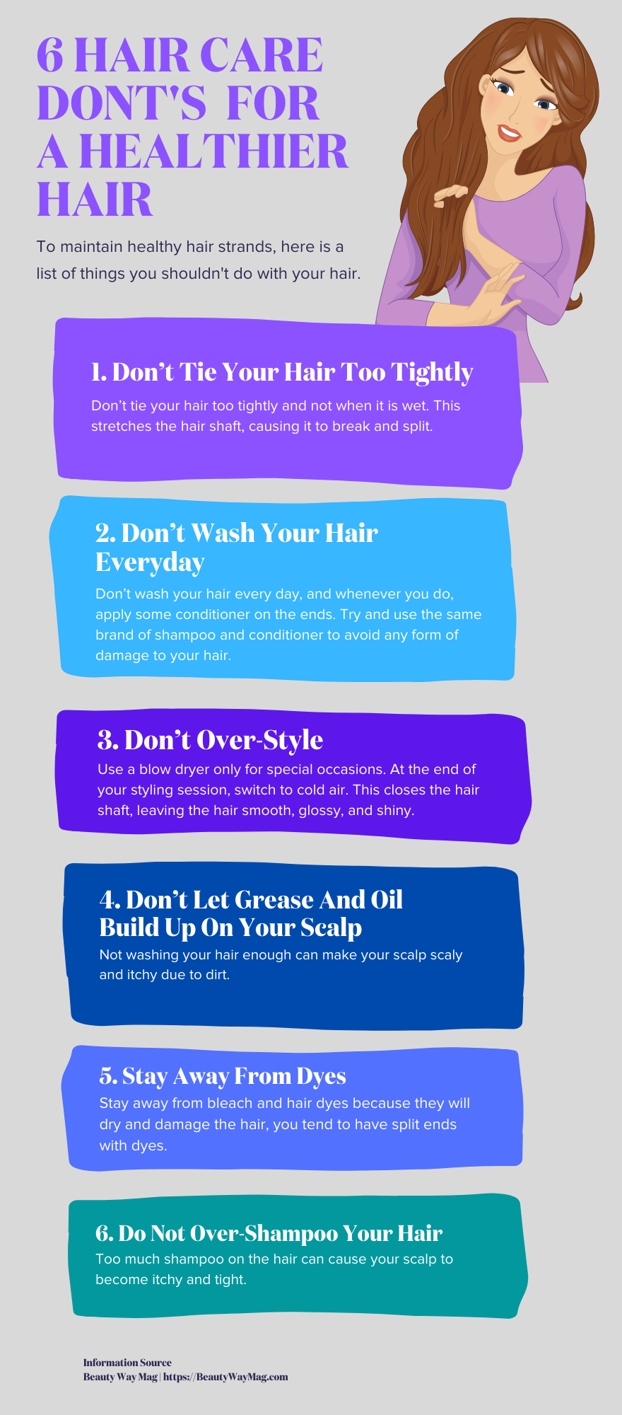 Hair care don't for healthier hair