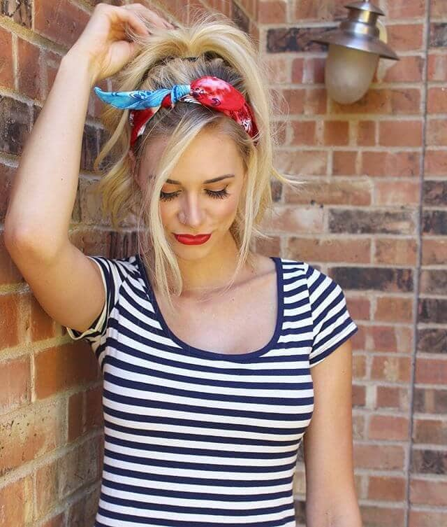 Fun Fringe Style With Bandana