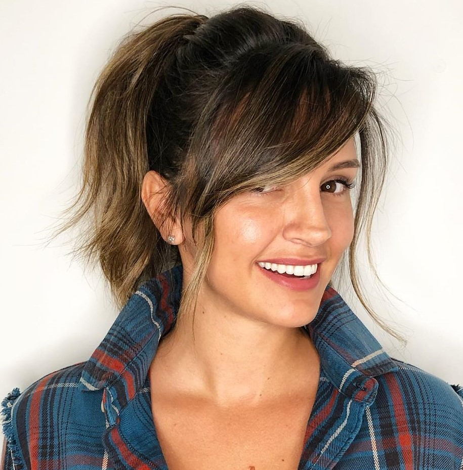 Traditional Ponytail With Side Fringe