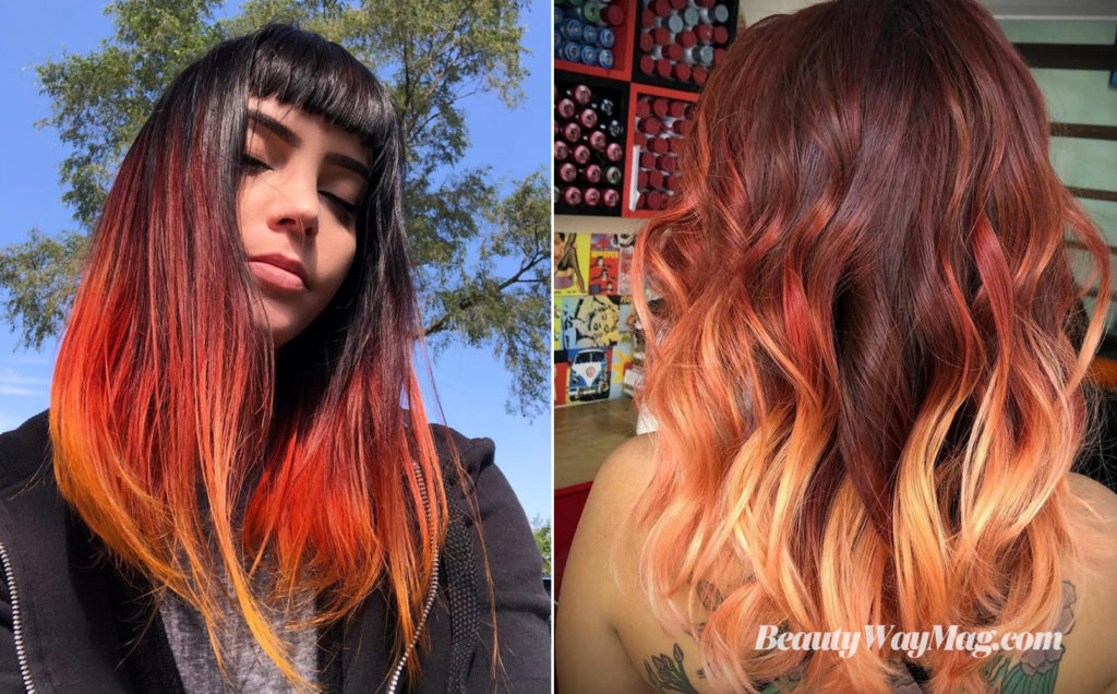 ombre fair color hairstyles