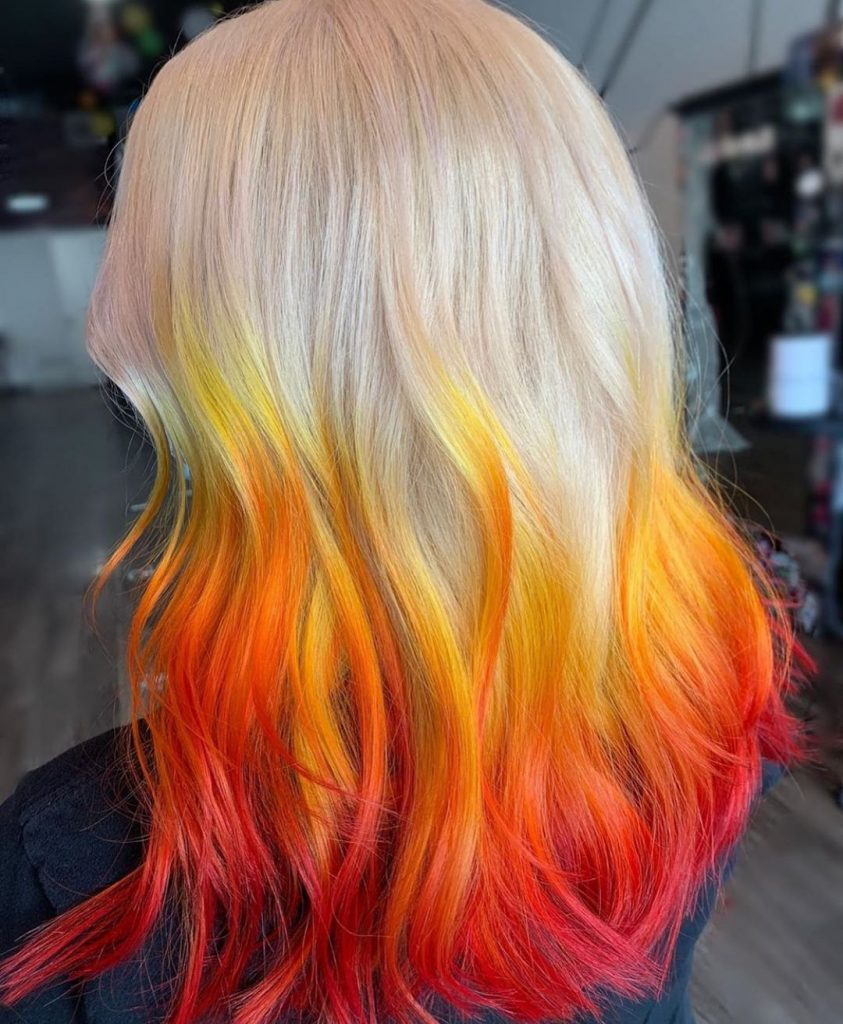 Fire Ombre With Platinum