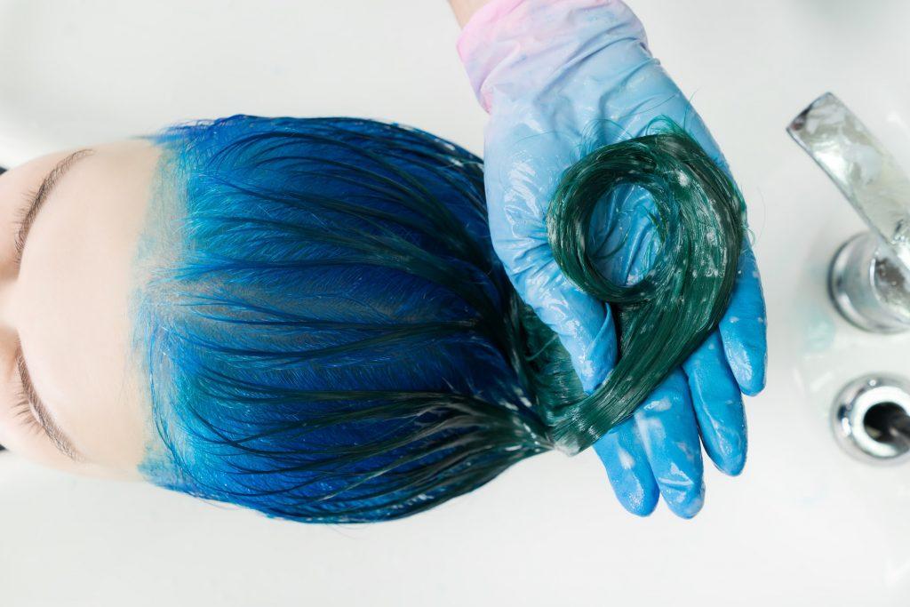 Blue Hair Highlights
