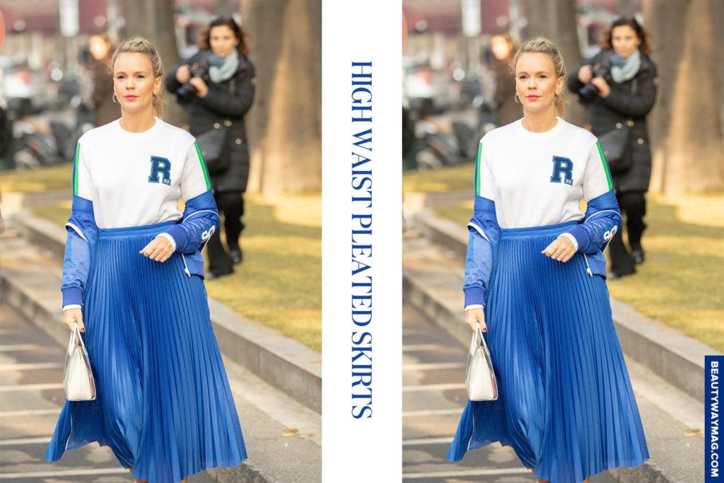 High Waist Pleated Skirts